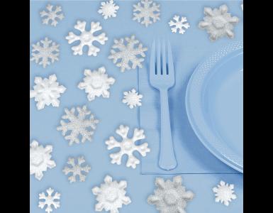 deko schnee kristall glitzer frozen weihnachten