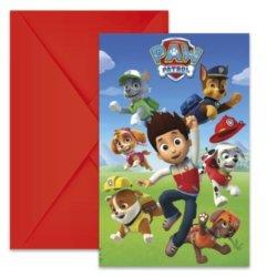 Paw Patrol Einladungskarten Rot