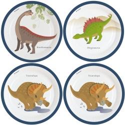 Schlichte Dino Geburtstag Pappteller