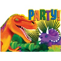Einladungskarte Dino Geburtstag