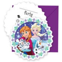 Schnee Einladungskarten Eiskönigin Geburtstag