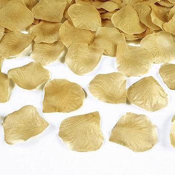 Goldene-Rosenblätter