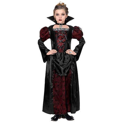 Vampir Königin Halloweenkostüm Kinder