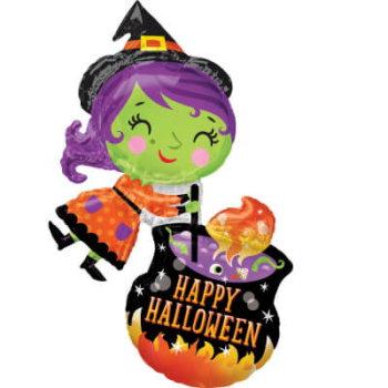 Hexen Luftballon Halloweenparty für Kinder
