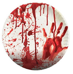 Blutiger Halloween Mottoparty Teller