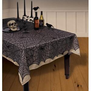 Spinnennetz Halloween Tischdecke