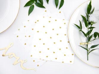 Romantische Tischdeko mit Herzchen Servietten