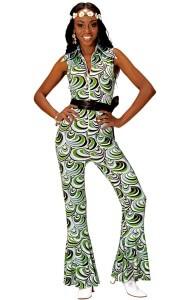 Hippie Party Kostüm Grün
