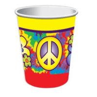Peace Hippie Deko Becher