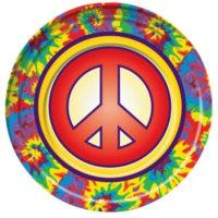 Peace Hippie Deko Teller