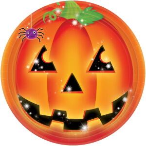 Halloween Party Kürbis Teller