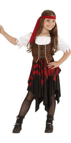 Piratin Kinderkostüm Fasching