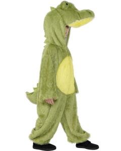 Junge im Krokodilskostüm für Dschungel Geburtstag
