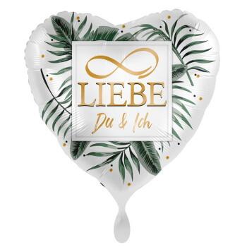 Herzballon Liebe Gold zum Valentinstag 2021
