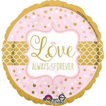 Goldener Ballon Love Always and Forever