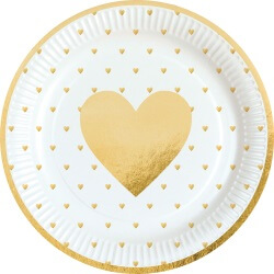 Goldene Herzchen Muttertag Deko Ideen
