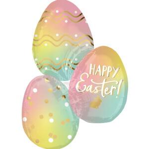 Hübsche Eierballons Osterbrunch
