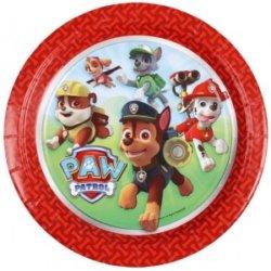 Rote Teller Paw Patrol Kindergeburtstag