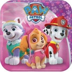 Pinke Teller Paw Patrol Kindergeburtstag