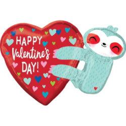 Faultier Valentinstagsballon