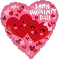 Herzchen Valentinstag Ballon