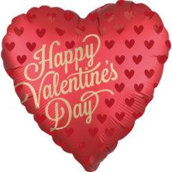 Roter Valentinstags Luftballon