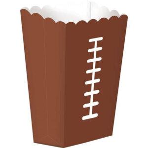 Braune Popcorntüte im American Football Design