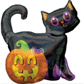 Glitzer Katze Halloween Party für Kinder