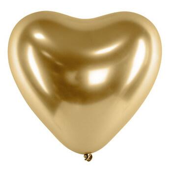 Valentinstag 2020 - 50 goldene Herzballons