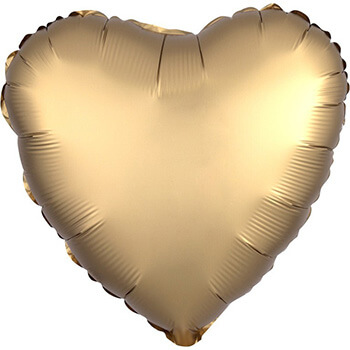 Valentinstag 2020 - Herzballon Satin Gold
