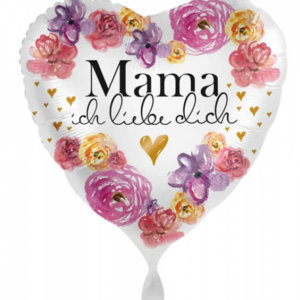 Ballongruß - Mama ich liebe dich