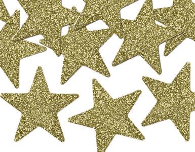 Deko Sterne glitzer Gold Weihnachten