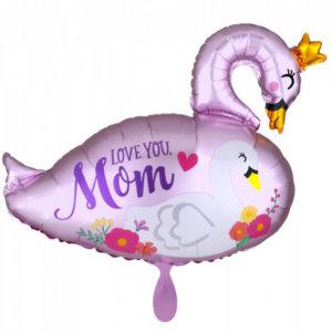 Muttertags-Ballongruß Schwan