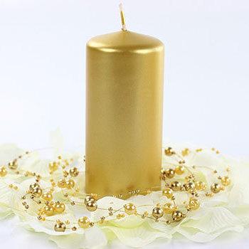 romantische Tischdeko - Stumpenkerzen