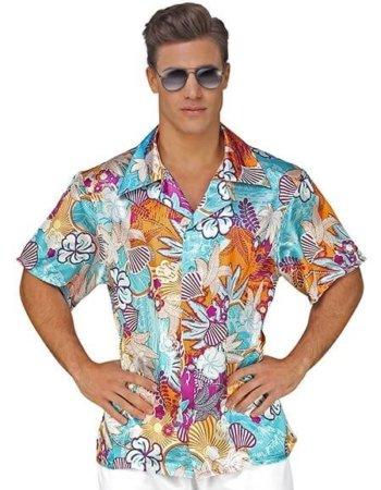 Türkises Hawaii Hemd für Herren