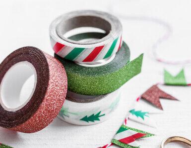 deko tape karten selber basteln weihnachten