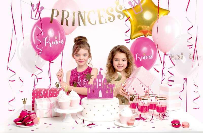 Mädchen mit Prinzessinnen Deko