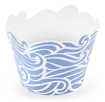 cupcake förmchen blaue welle