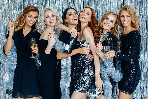 Frauen 20er Jahre Glitzerkleid Party
