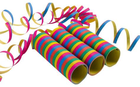 DIY Pinata füllen - bunte Luftschlangen