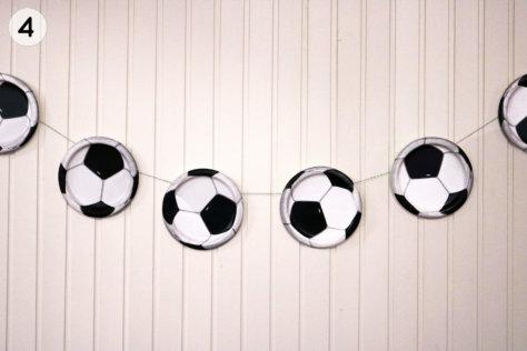 Fußball Girlande selber machen