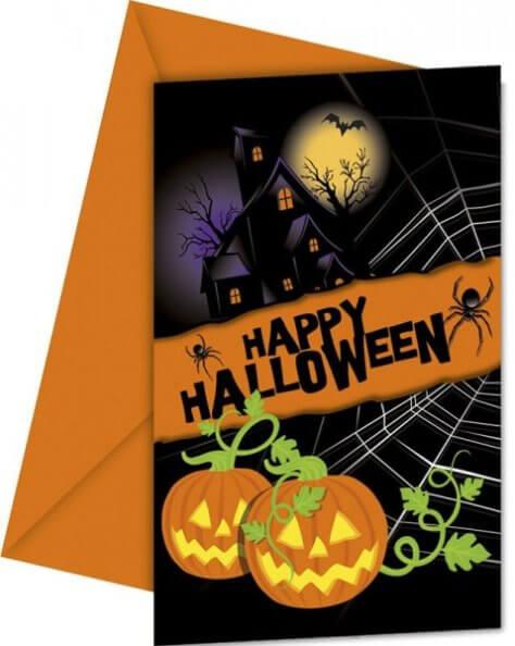 Einladungskarten zur Halloween-Mottoparty