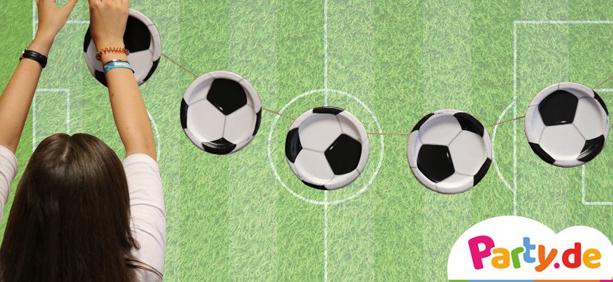 DIY Fußball Girlande