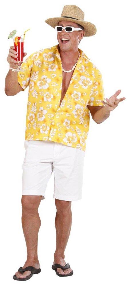 Gelbes Hawaiiblumen Hemd Pietro
