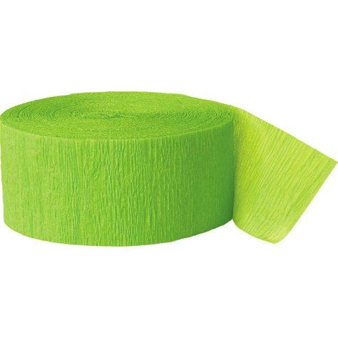 Krepppapier in grün für DIY Pinata