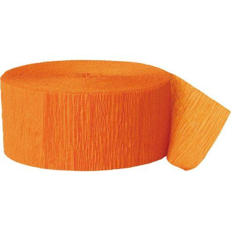 Oranges Krepppapier für eine DIY Pinata