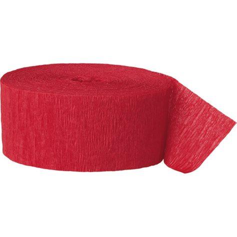 Pinata basteln - rotes Krepppapier