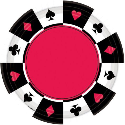 Teller für die Vegas-Party