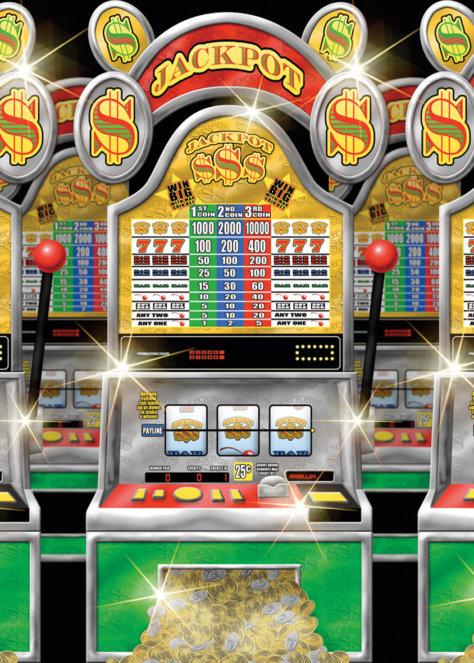 Casino-Mottoparty Vegas Wandkulisse