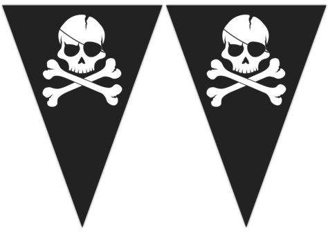 Girlande für den Piraten Geburtstag
